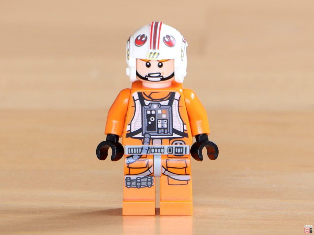 Vorderseite mit alternativem Gesicht von LEGO Luke Skywalker im Piloten-Outfit | ©Brickzeit
