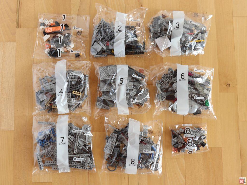 Neun Tütchen mit Bausteinen für den LEGO Star Wars 75288 AT-AT | ©Brickzeit