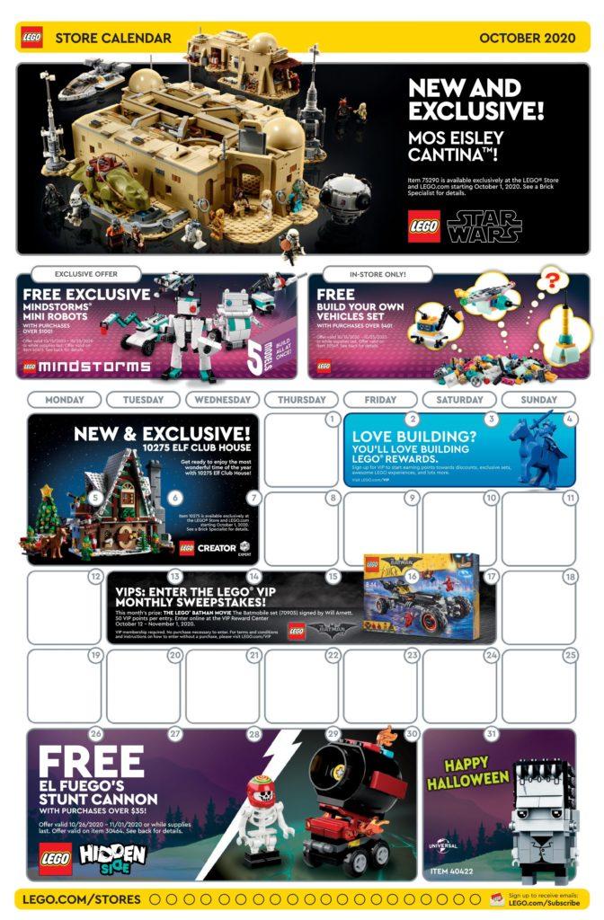 Seite 1 LEGO Store Kalender USA 10.2020 | ©LEGO Gruppe
