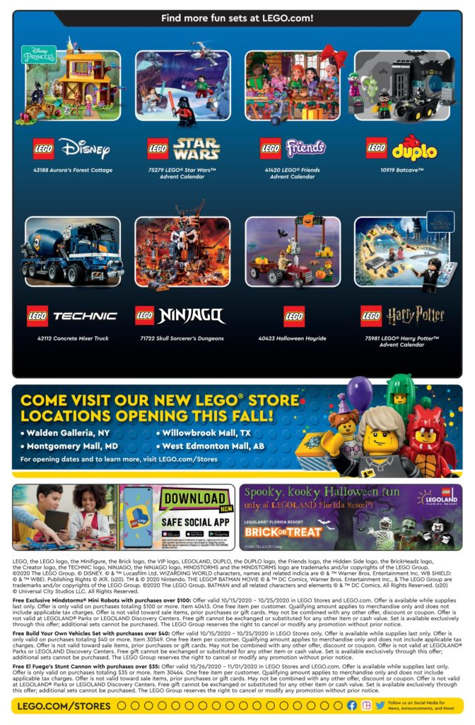 Seite 2 LEGO Store Kalender USA 10.2020 | ©LEGO Gruppe