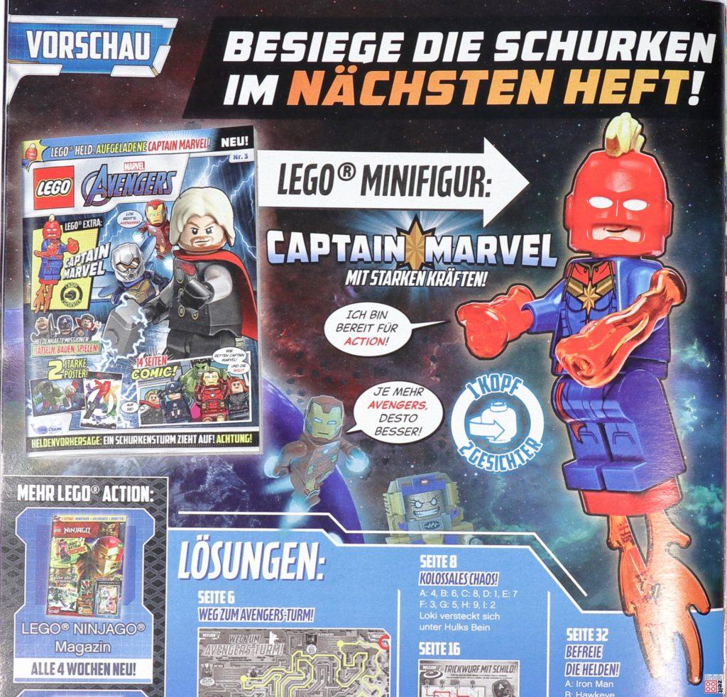 Heftvorschau LEGO Marvel Avengers Magazin Nr. 3 mit Captain Marvel | ©Brickzeit