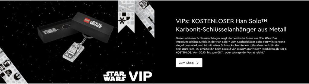 LEGO® Star Wars™ Han Solo™ Karbonit-Schlüsselanhänger aus Metall Teaser (5006363) | ©LEGO Gruppe
