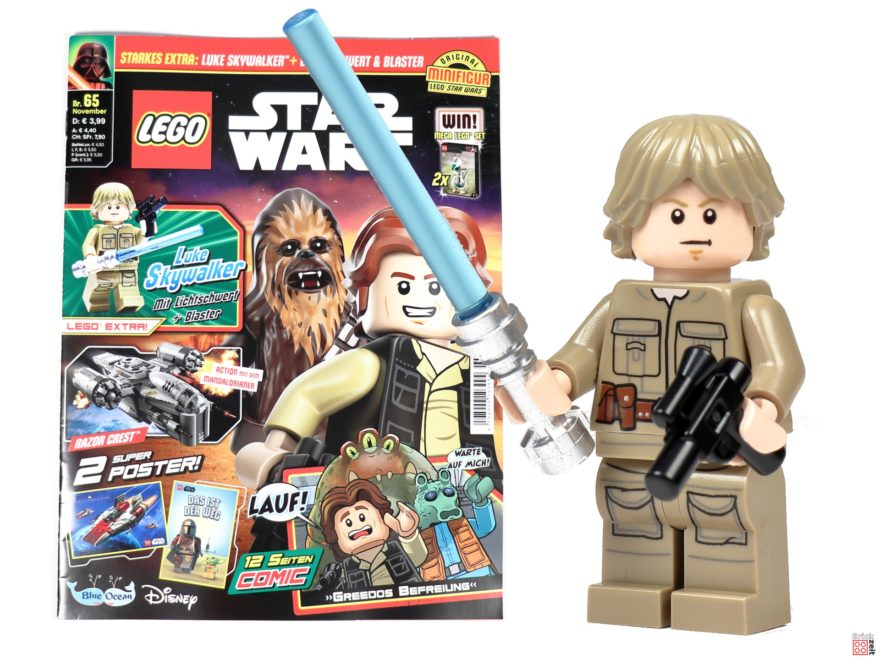 LEGO Star Wars Magazin Nr. 65 mit Bespin Luke Skywalker | ©Brickzeit