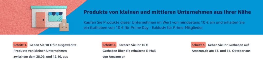 Amazon Prime Day 2020 - 10€ Gutschein im Vorfeld sichern | ©Amazon