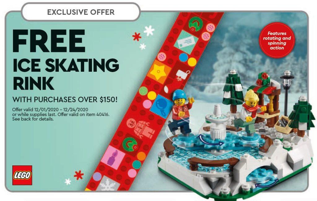 LEGO 40416 Eislaufbahn ab 1. Dezember 2020 als Gratisbeigabe im US Store-Kalender | ©LEGO Gruppe