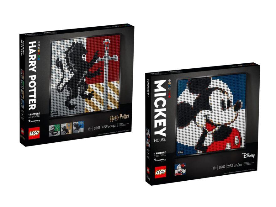 LEGO Arts Hogwarts Wappen und Mickey Mouse ab 1. Januar 2021 verfügbar | ©LEGO Gruppe