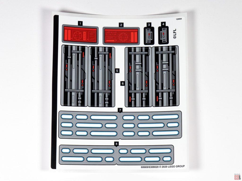 LEGO Star Wars 75291 - Aufkleber | ©Brickzeit