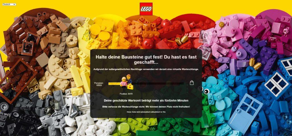 Virtuelle Warteschlange für das Kolosseum im LEGO Online Shop