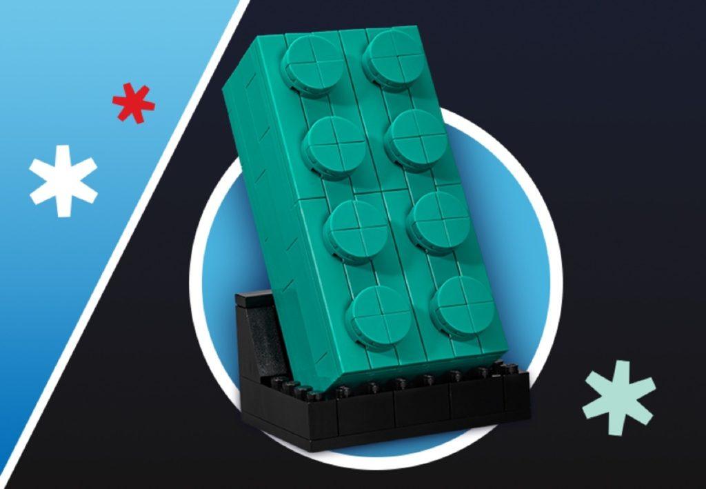 LEGO 5006291 grüner 2x4 VIP-Baustein | ©LEGO Gruppe