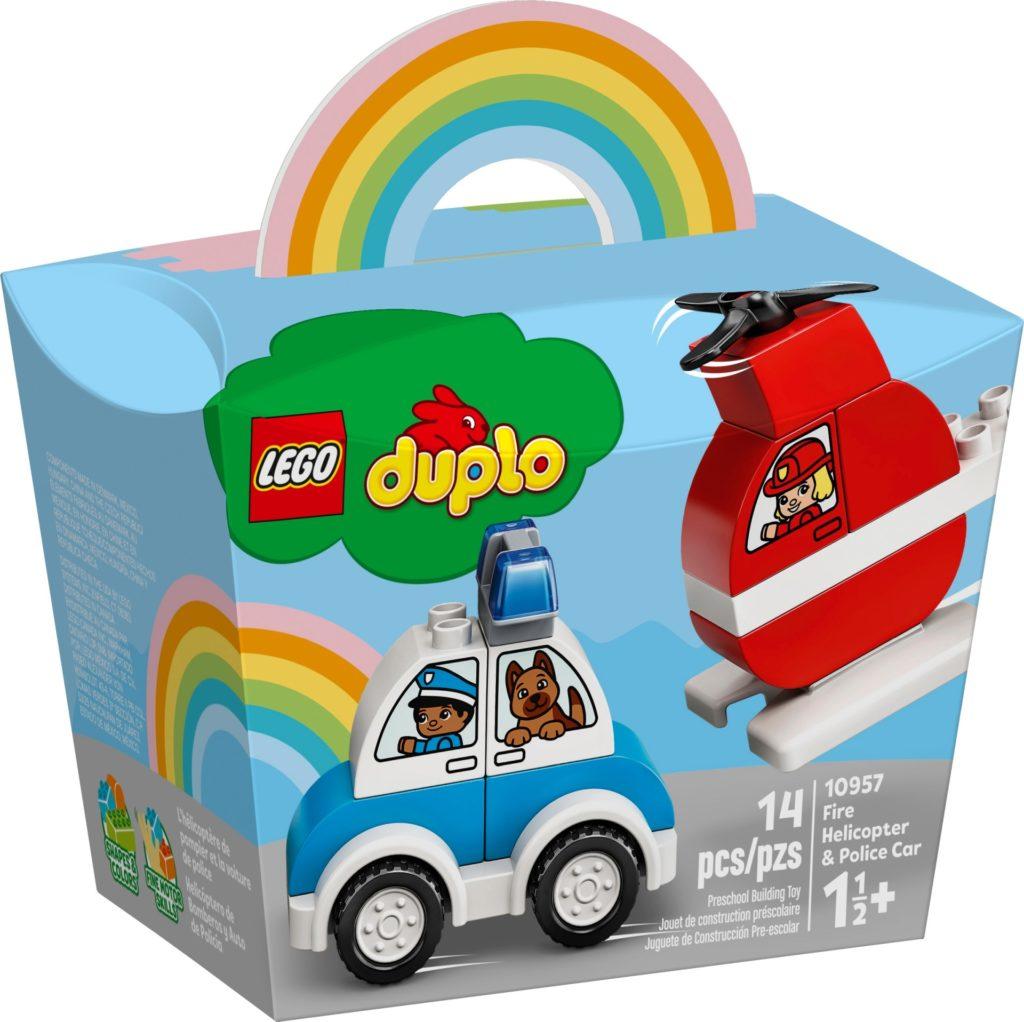 LEGO DUPLO 10957 Mein erster Feuerwehrhubschrauber und mein erstes Polizeiauto | ©LEGO Gruppe