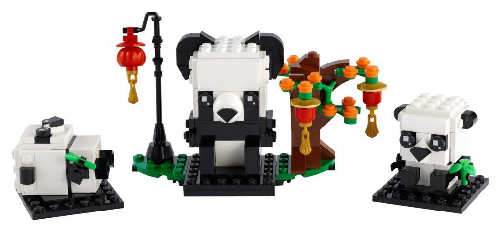 LEGO Brickheadz 40466 Pandas fürs chinesische Neujahrsfest | ©LEGO Gruppe