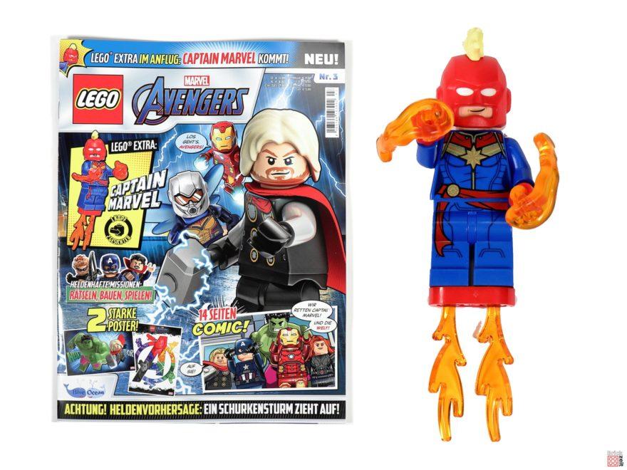 Review - LEGO Marvel Avengers Magazin Nr. 3 mit Captain Marvel | ©Brickzeit