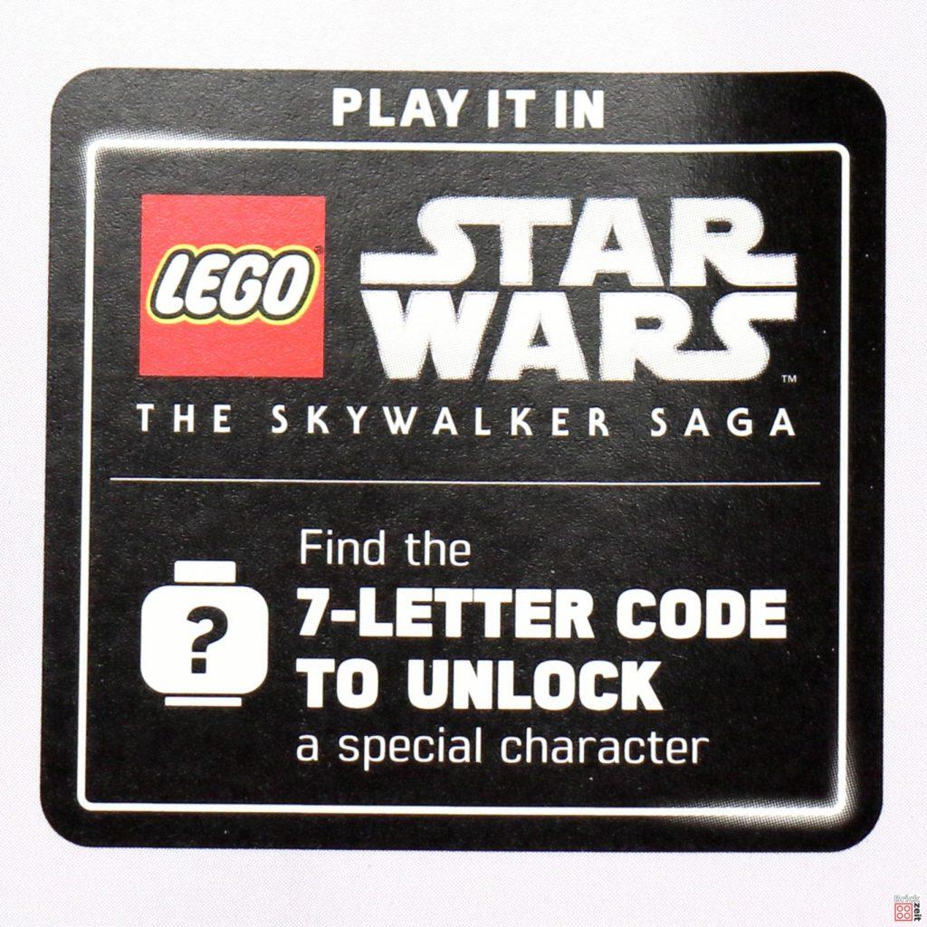 Hinweis auf Unlock-Code für Videogame | ©Brickzeit