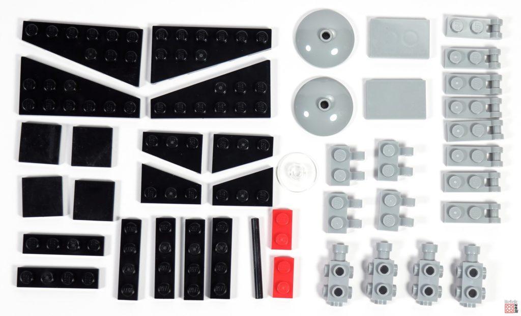 LEGO Star Wars TIE-Interceptor Polybag (912067), Einzelteile | ©Brickzeit