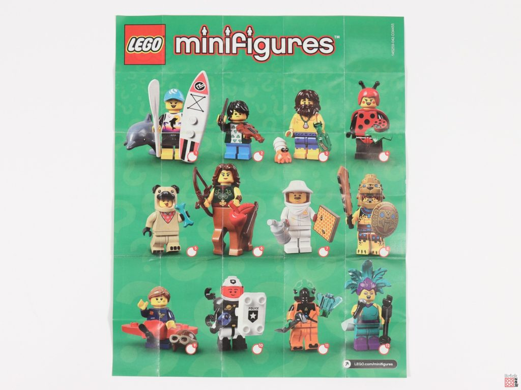 Beipackzettel Seite 1 der LEGO 71029 Minifiguren Serie 21 | Brickzeit