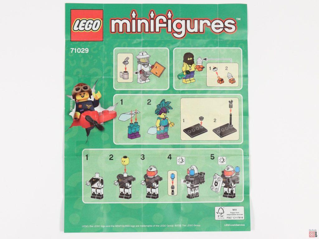 Beipackzettel Seite 2 der LEGO 71029 Minifiguren Serie 21 | Brickzeit