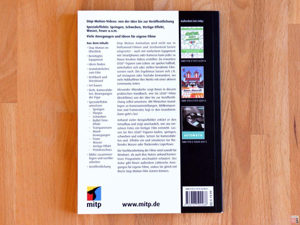 Buchrücken vom Praxisbuch Stop Motion Animation 3. Auflage | ©Brickzeit