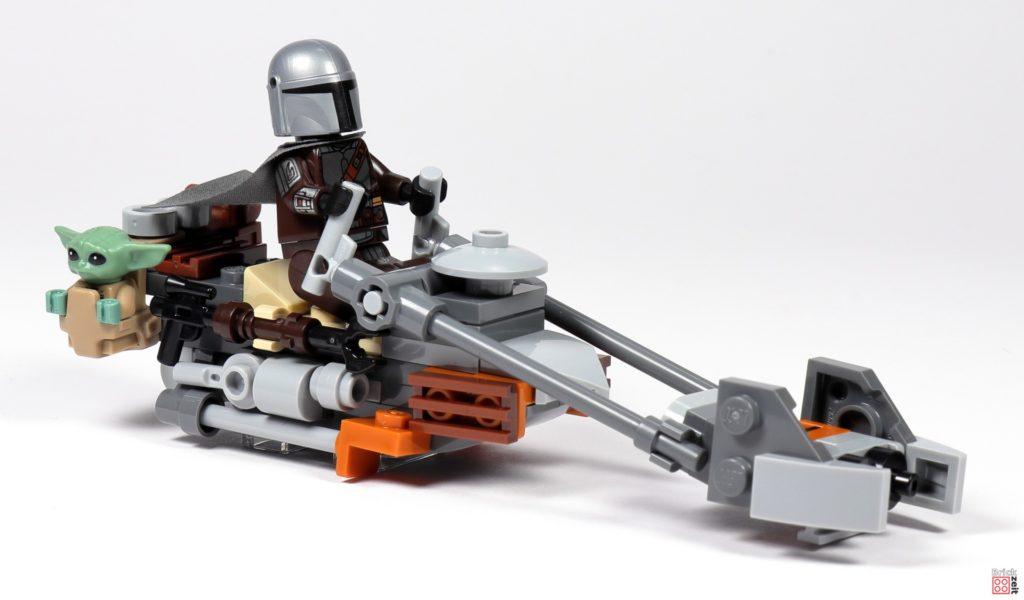 LEGO Star Wars 75299 - Beskar-Mando und Baby Yoda auf dem Speederbike | ©Brickzeit