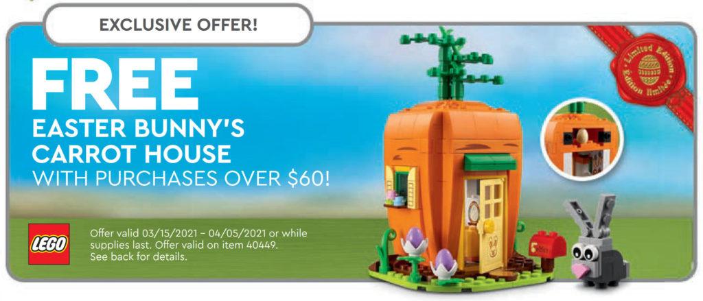 LEGO 40449 Easter Bunny's Carrot House - Ankündigung aus dem LEGO Store Kalender März 2021 in USA