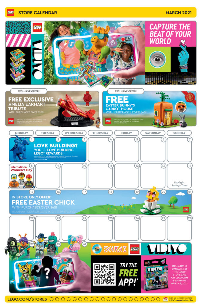 Seite 1 - LEGO Store Kalender März 2021 in USA
