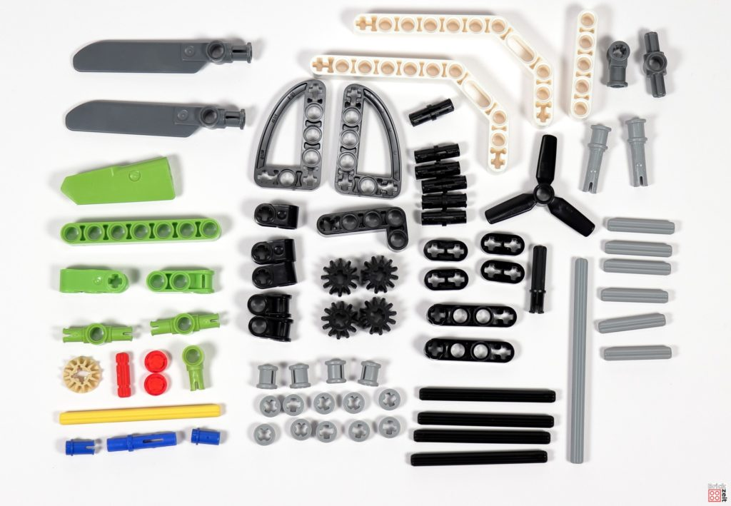 LEGO Technic 30465 Helikopter Polybag - Einzelteile | ©Brickzeit