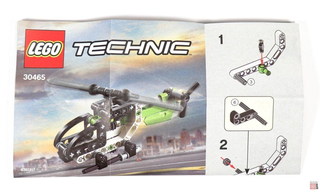 LEGO Technic 30465 Helikopter Polybag - Anleitung | ©Brickzeit