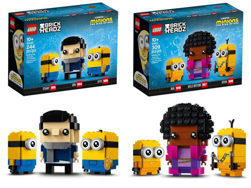 LEGO Minions Brickheadz 40420 & 40421 | ©LEGO Gruppe
