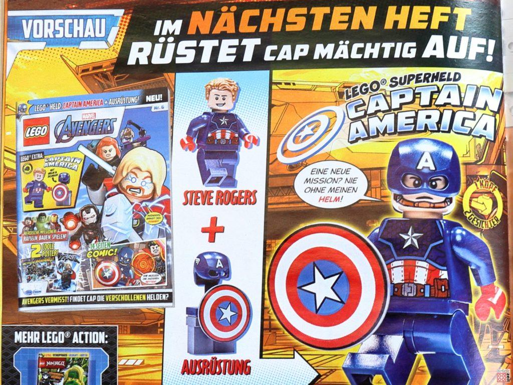 Vorschau auf Heft Nr. 6 mit Captain Marvel | ©Brickzeit