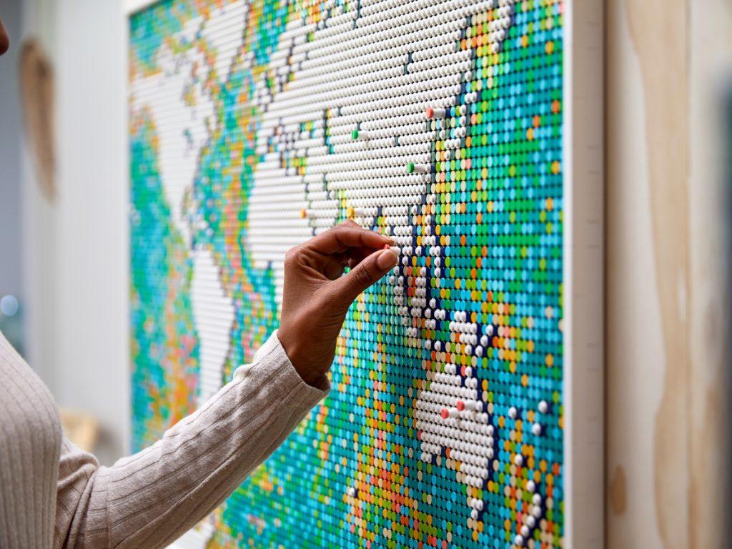 LEGO Art 31203 Weltkarte | ©LEGO Gruppe