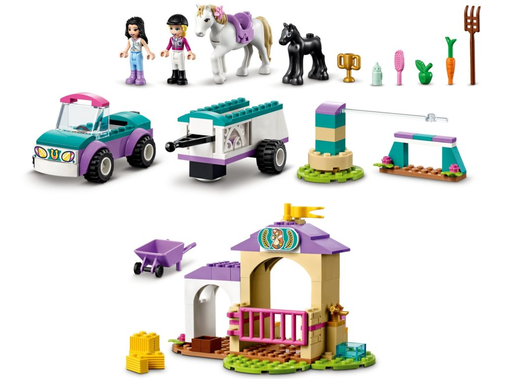 LEGO Friends 41441 Trainingskoppel und Pferdeanhänger | ©LEGO Gruppe