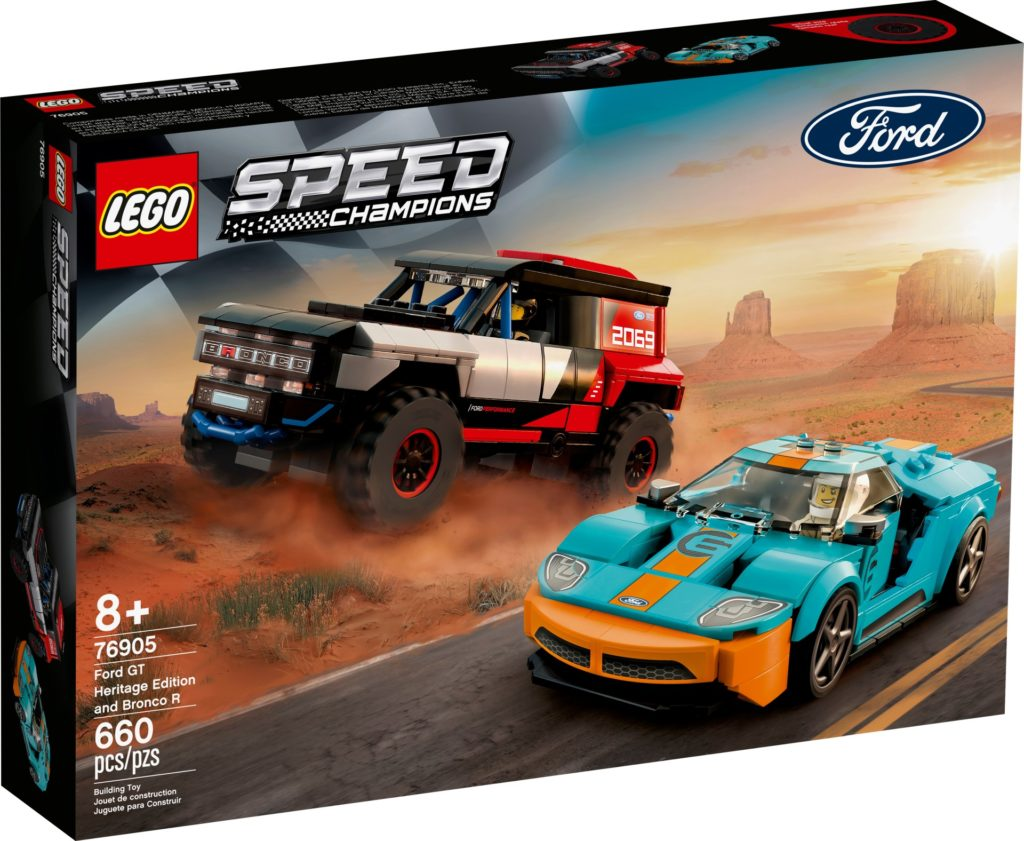 LEGO Speed Champions 76905 Ford GT Heritage Edition und Bronco R | ©LEGO Gruppe