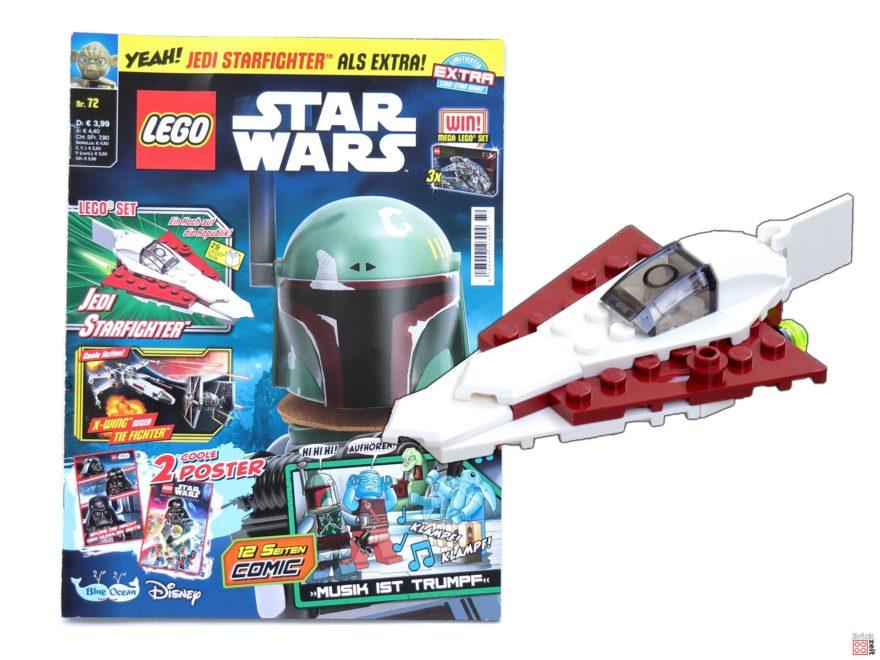 Review - LEGO® Star Wars™ Magazin Nr. 72 mit Jedi Starfighter | ©Brickzeit