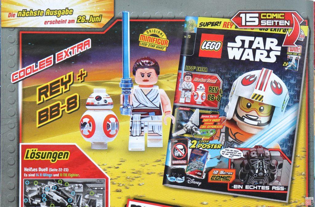 Heftvorschau LEGO Star Wars Magazin Nr. 73 mit Rey und BB-8 | ©Brickzeit