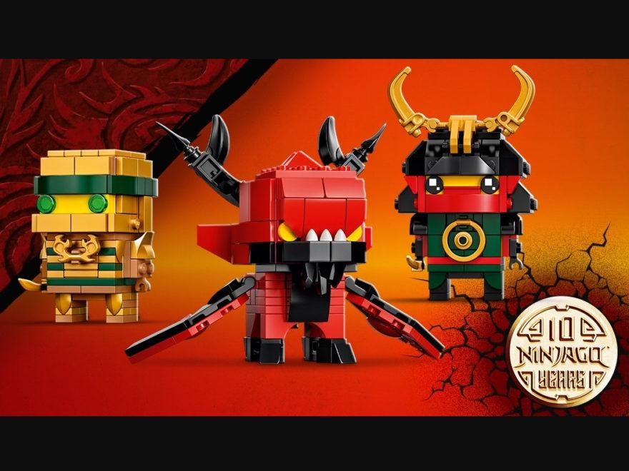LEGO BrickHeadz 40490 zum 10-jährigen Jubiläum von LEGO NINJAGO | ©LEGO Gruppe
