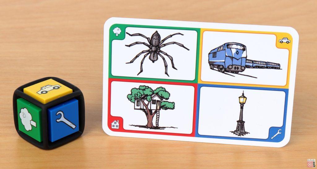 LEGO 3844 Creationary - Würfel und Spielkarte | ©Brickzeit