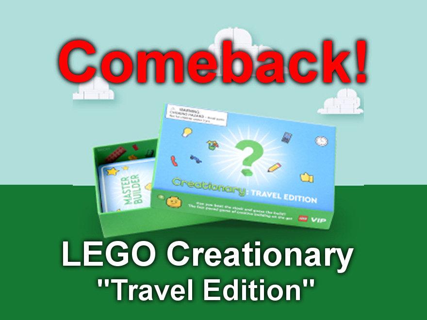 "LEGO Creationary ""Travel Edition"" - Comeback als VIP-Prämie"