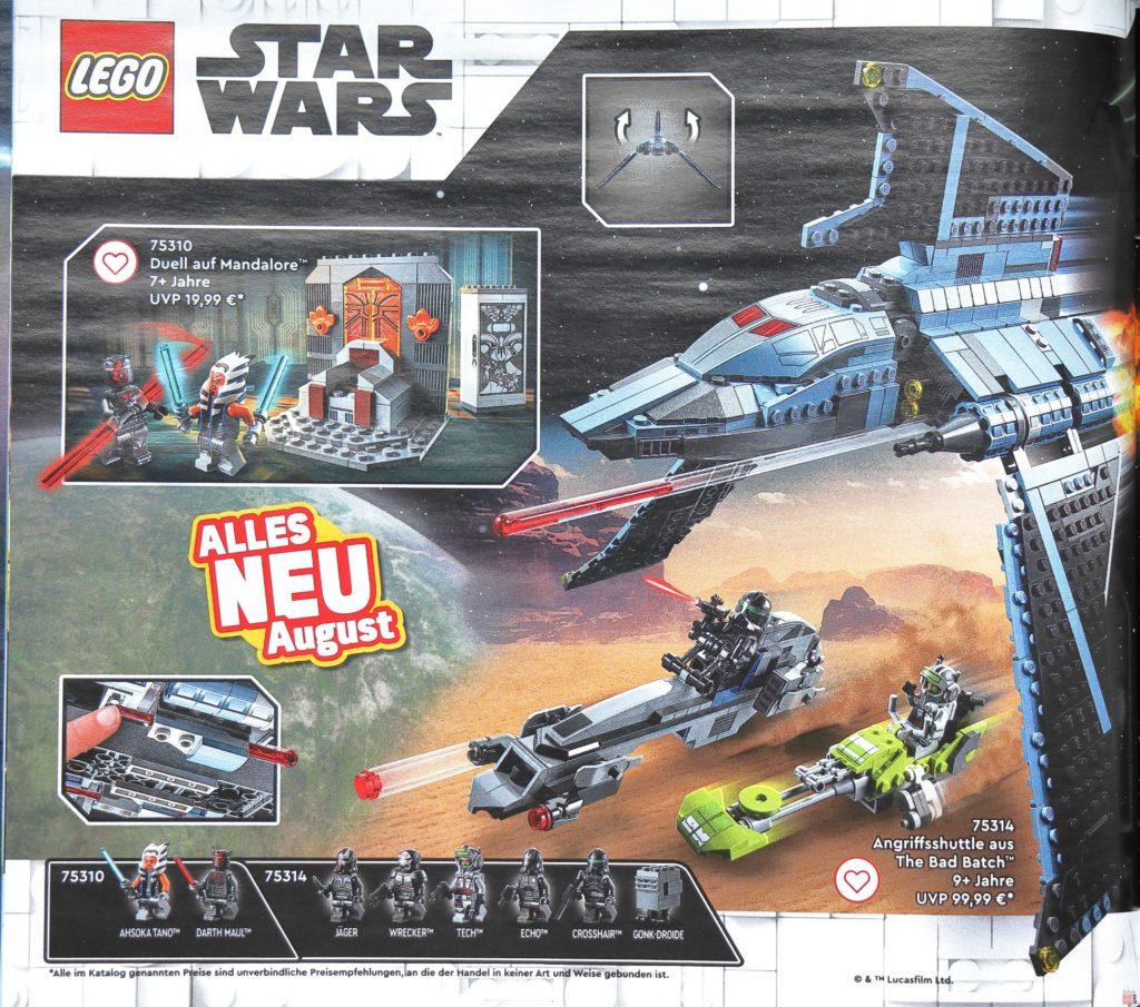 LEGO Star Wars im LEGO Katalog 2. Halbjahr 2021