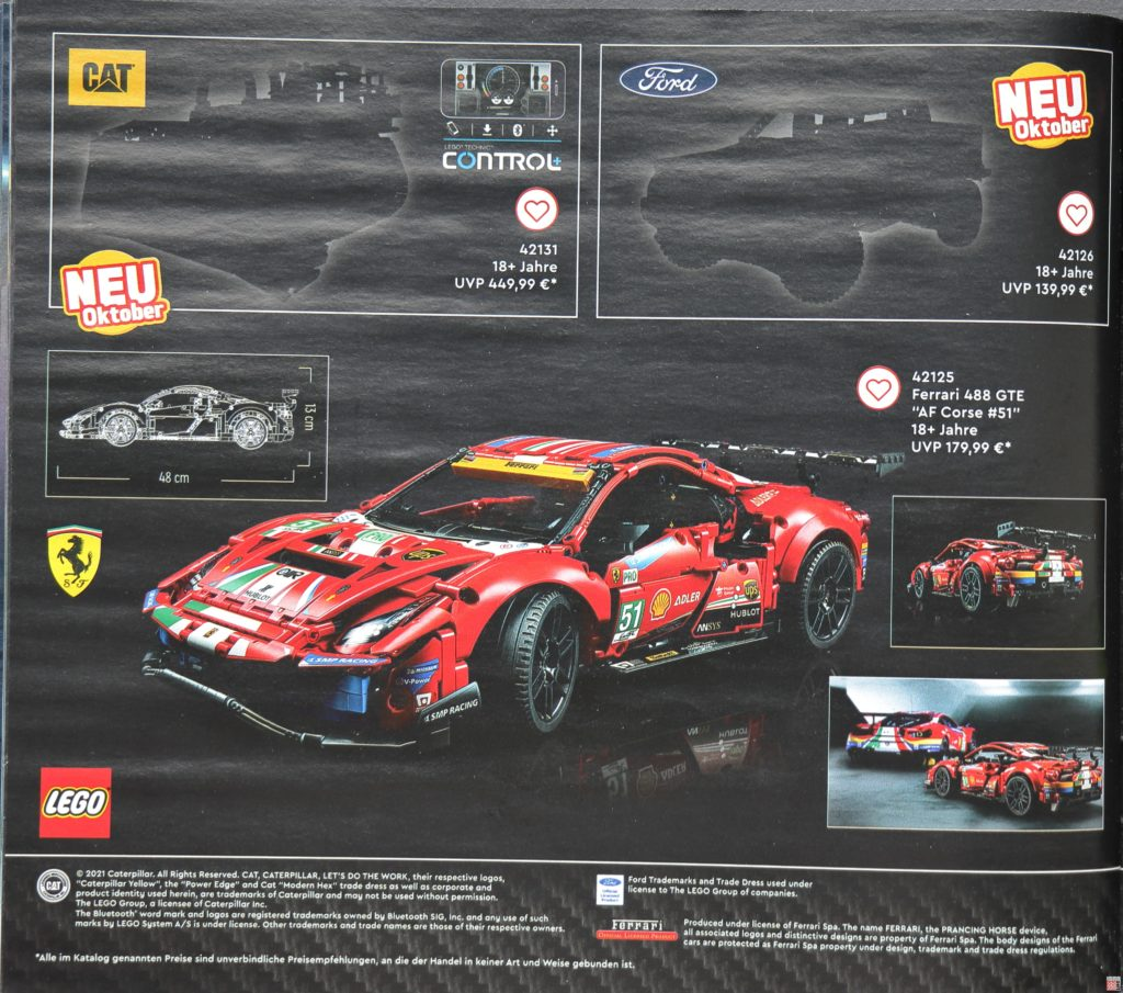 LEGO Technic Neuheiten im LEGO Katalog 2. Halbjahr 2021