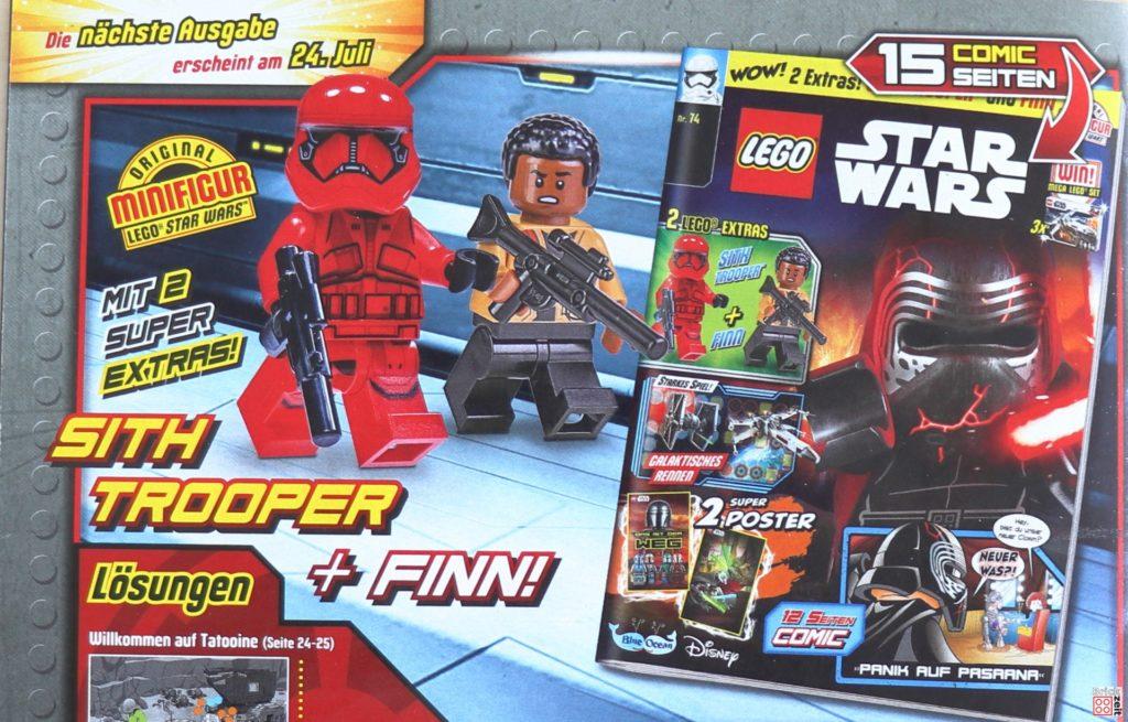Heftvorschau LEGO Star Wars Magazin Nr. 74 mit Sith-Trooper und Finn | ©Brickzeit