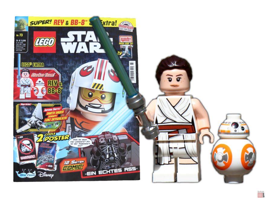 Review - LEGO® Star Wars™ Magazin Nr. 73 mit Rey und BB-8 | ©Brickzeit