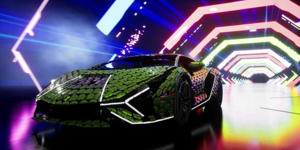 Virtuelle Präsentation des lebensgroßen LEGO® Technic™ Lamborghini Sían FKP 37 | ©LEGO Gruppe