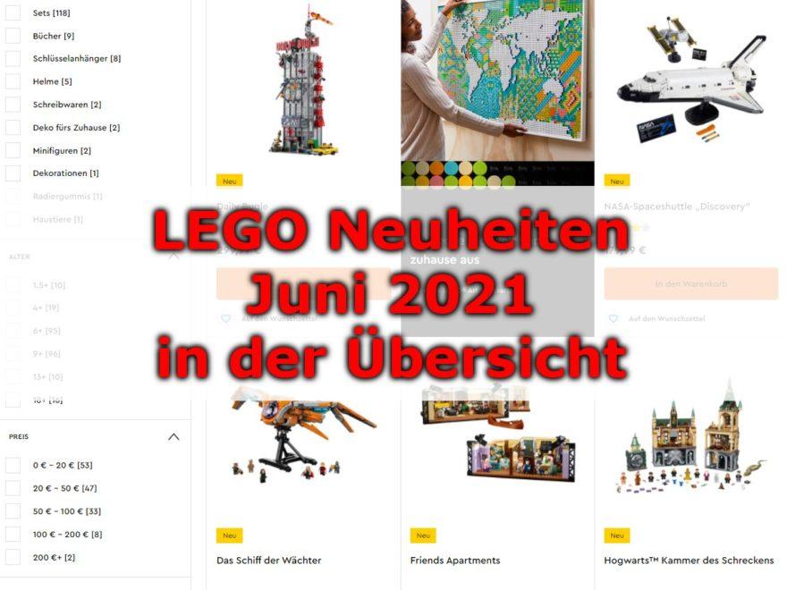 LEGO Juni 2021 Neuheiten in der Übersicht