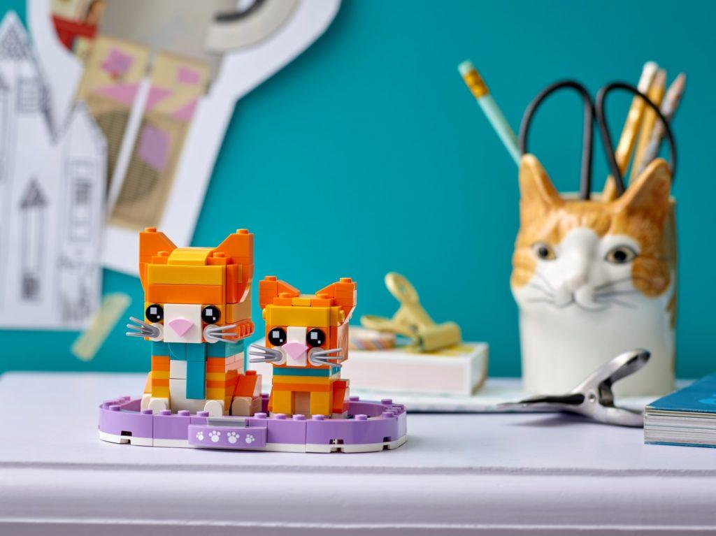 LEGO Brickheadz 40480 Rot getigerte Katze | ©LEGO Gruppe