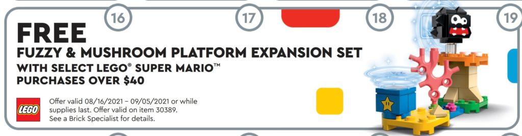 LEGO 30389 Fuzzy & Mushroom Platform Expansion | ©LEGO Gruppe