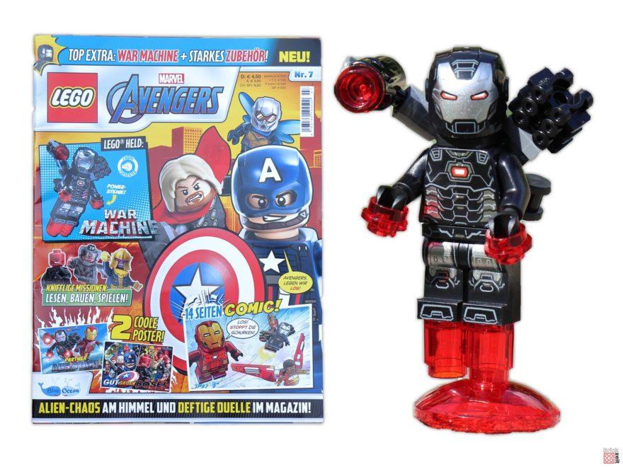 Review - LEGO Marvel Avengers Magazin Nr. 7 mit War Machine | ©Brickzeit