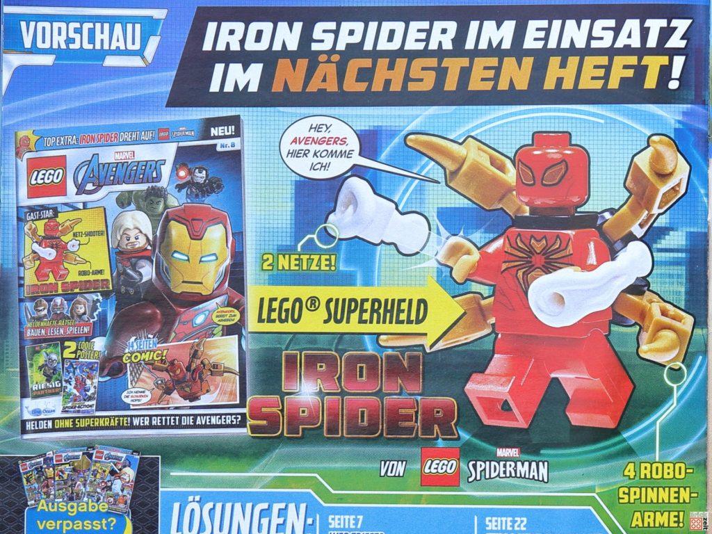 Vorschau auf Heft Nr. 8 mit Iron Spider | ©Brickzeit
