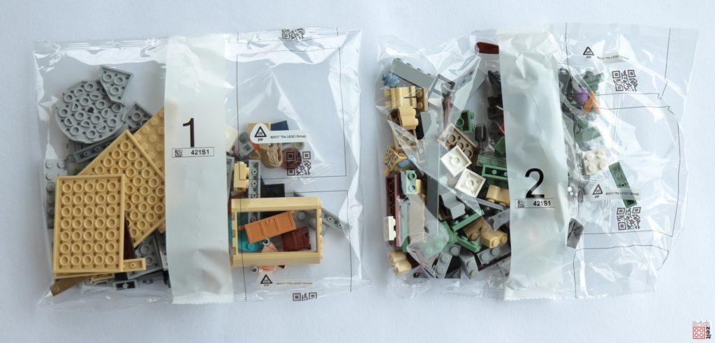 Tütchen mit Steinen für Packung, Rückseite - LEGO 76200 Bro Thors neues Asgard | ©Brickzeit