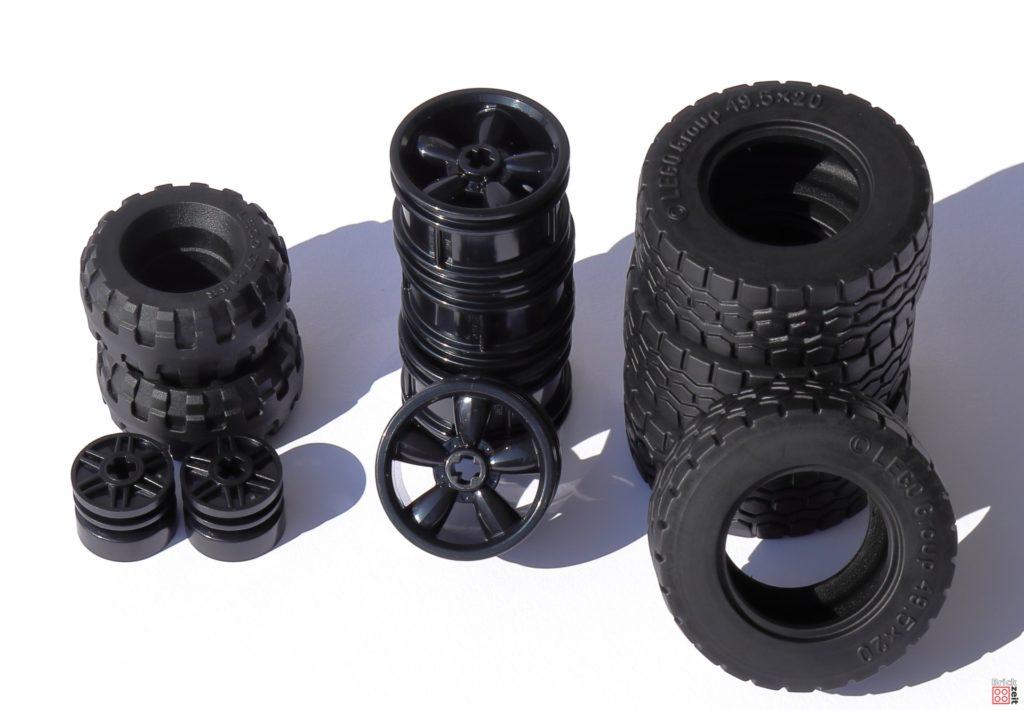 Reifen und Felgen für den LEGO Tumbler   ©Brickzeit