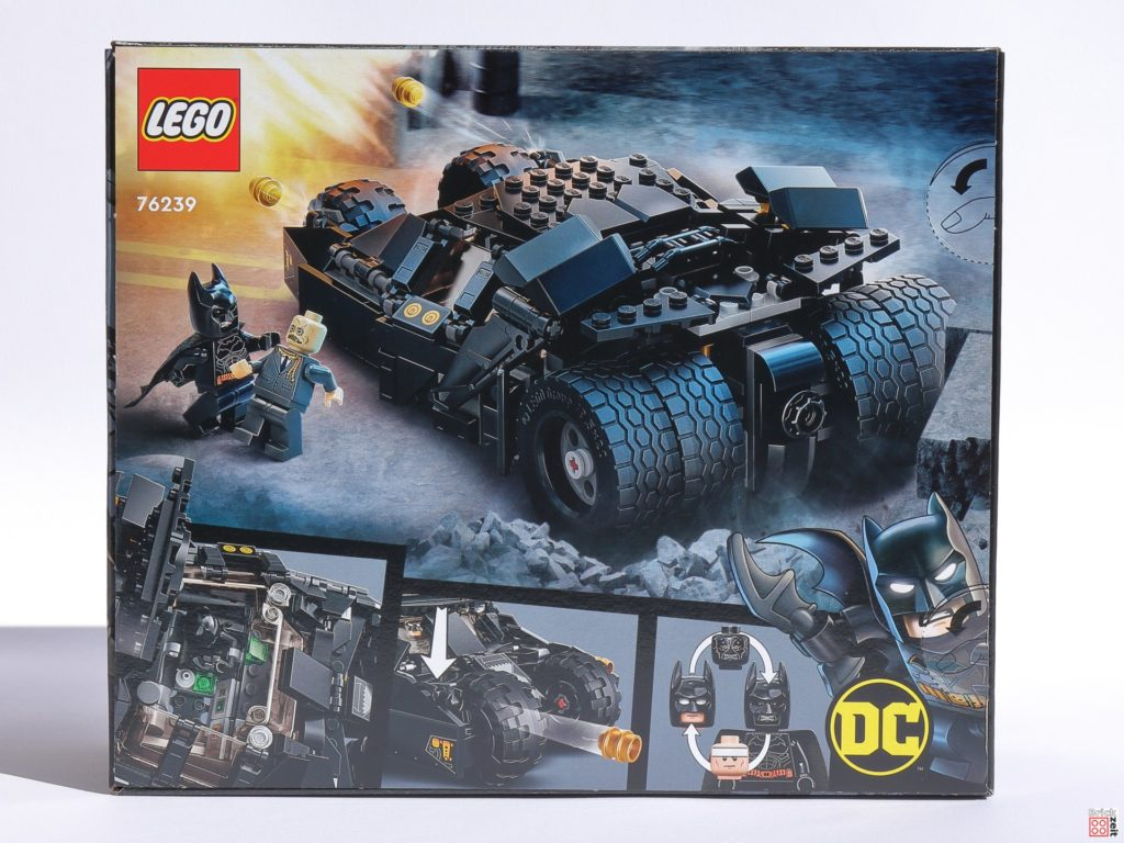 LEGO 76239 Batmobile Tumbler: Duell mit Scarecrow, Packung Rückseite   ©Brickzeit