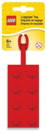 LEGO 5005542 Roter LEGO® 2x4-Stein-Gepäckanhänger